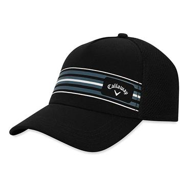 Callaway Gents Stripe Mesh Cap  Black Titanium