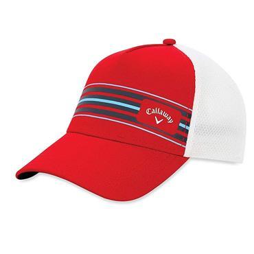 Callaway Gents Stripe Mesh Cap  Red/White
