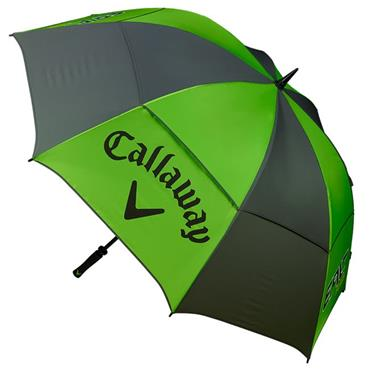 "Callaway Epic Flash Double Canopy 68"" Umbrella  Green/White/Charcoal"