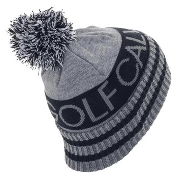 Calvin Klein Golf Gents Reversible Quadrant Bobble Hat Grey Marl