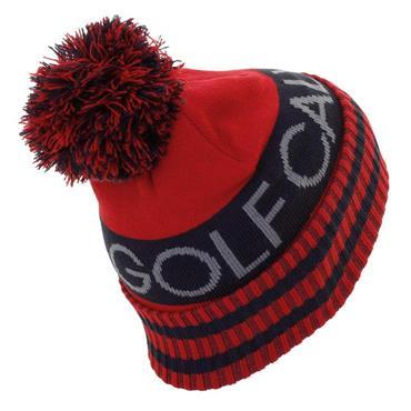 Calvin Klein Golf Gents Reversible Quadrant Bobble Hat Red