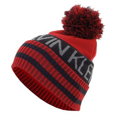 Calvin Klein Golf Gents Quadrant Bobble Hat  Red