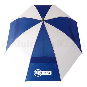 Golfers Club Collection Pro-Tekt Dual Canopy Umbrella White - Blue