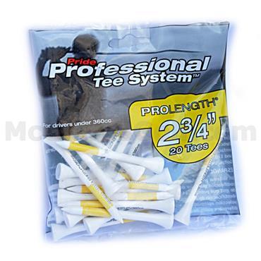 "Pride Golf Tee Pro Tees (Small Bag) 2 3/4"" Yellow"