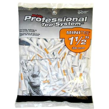 Pride Golf Tee Pro Tees Wooden (Large Bag) 1.5 Orange