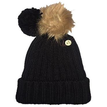 Icon Ladies PomDuo Beanie  Black