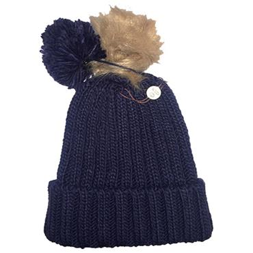 Icon Ladies PomDuo Beanie  Navy
