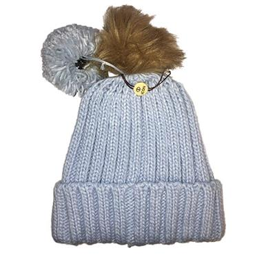 Icon Ladies PomDuo Beanie  Light Blue