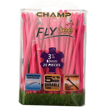 "Champ Fly Tee 3 1/4"" Tees 25-Pack  Pink"