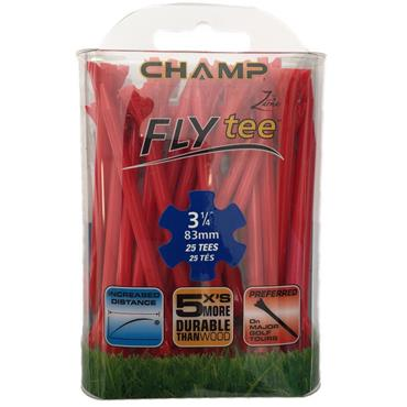 "Champ Fly Tee 3 1/4"" Tees 25-Pack  Red"