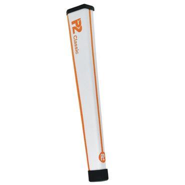 P2 GRIPS Classic Regular Putter Grip  White/Orange