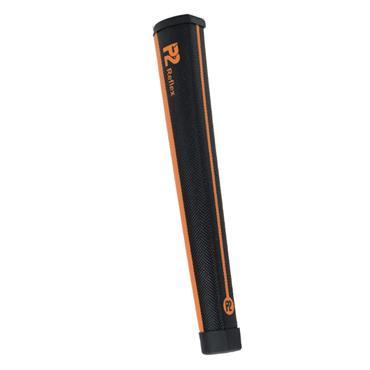 P2 GRIPS Reflex Oversize Putter Grip  Black/Orange