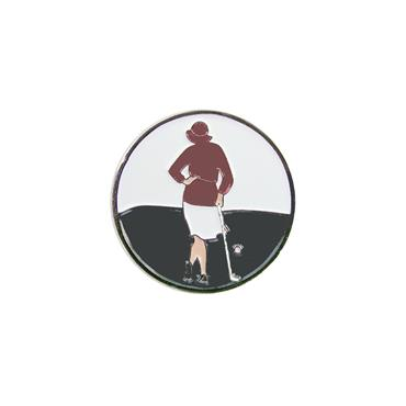 Navika Magnetic Hat Clip and Marker  Lady Golfer