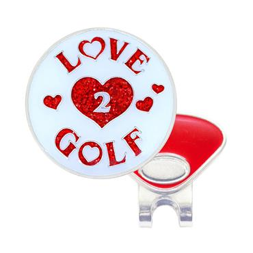 Navika Magnetic Hat Clip and Marker  Love 2 Golf