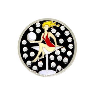 Navika Magnetic Hat Clip & Swarkovski Marker  Lady in Glass