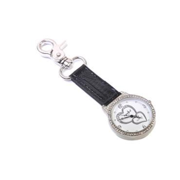 Navika Golf Bag Watch Leather  Black Silver