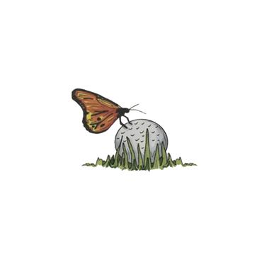 Golfers Club Collection 10 Blank Greeting Cards with envelopes  Butterfly