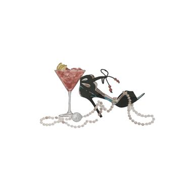 Golfers Club Collection 10 Blank Greeting Cards with envelopes  Cocktail