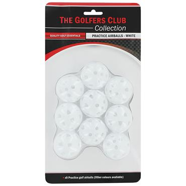 Golfers Club Collection Airflow Practice Balls 9-Pack PB03M  .