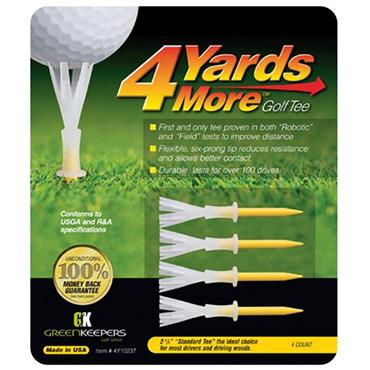 Golfers Club Collection Tees 4 Yards More 2 3/4 Inch 4-Pack . ONE