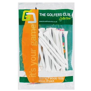 Golfers Club Collection Wood Tees 20-Pack White
