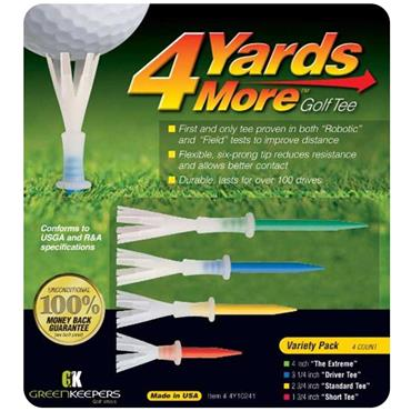 Golfers Club Collection Tees 4 Yards More Variety Pack 4-Pack