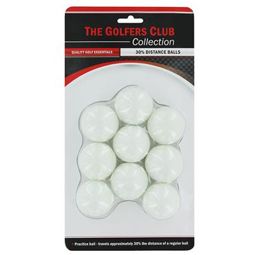Golfers Club Collection Practice 30% Distance Balls 9-Pack White