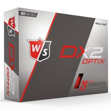 Wilson DX2 Optix WHITE 48-144 dz logo ball