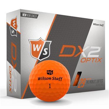 Wilson DX2 Optix ORANGE 12-47 dz logo ball