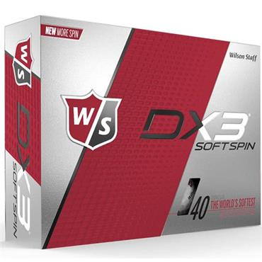 Wilson DX3 Soft Spin 48-144 dz logo ball