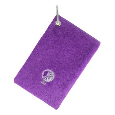 Surprizeshop Bag Towel With Carabiner  Purple