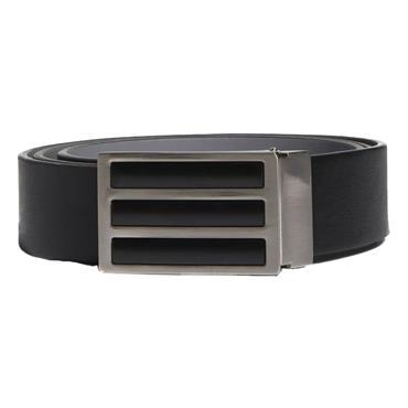 adidas Gents 3-Stripe Rev. Belt  Black-Grey
