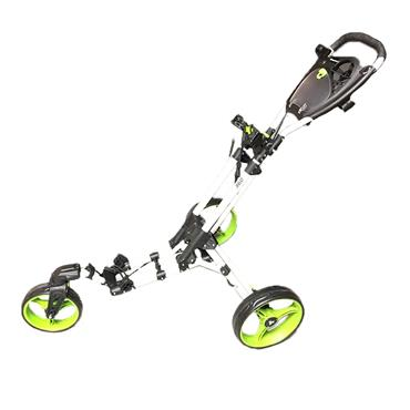 FastFold 360 Push Trolley White - Lime