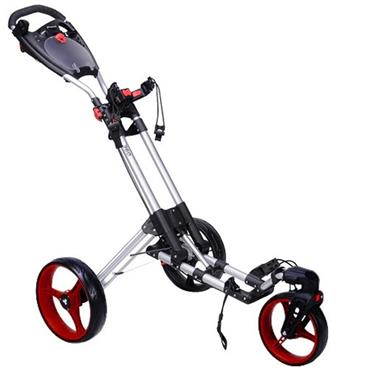 FastFold 360 Manual Cart  Silver/Red