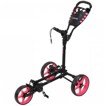 FastFold Flat Fold Manual Cart  Black - Pink