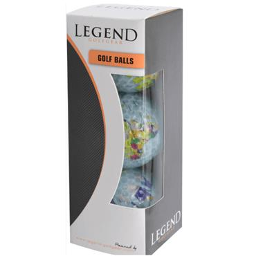 Legend Golfgear 3-Pack Golf Balls  Globe