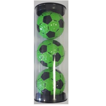 Legend Golfgear 3-Pack Golf Balls  Black/Lime Soccer
