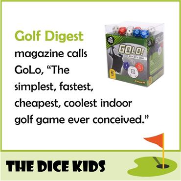 Dice Kids GoLo Golf Dice Game  .