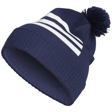 Adidas Gents 3-Stripes Pompom Beanie Navy