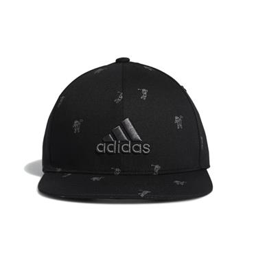 adidas YOUTH FLAT BRIM HAT  Black