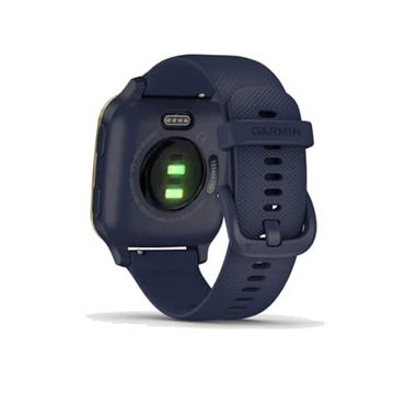 Garmin Venu Sq Music GPS Watch  Navy/Gold