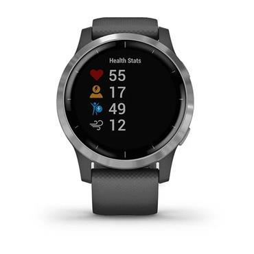 Garmin Vivoactive 4 GPS Smart Watch  Shadow Grey Stainless