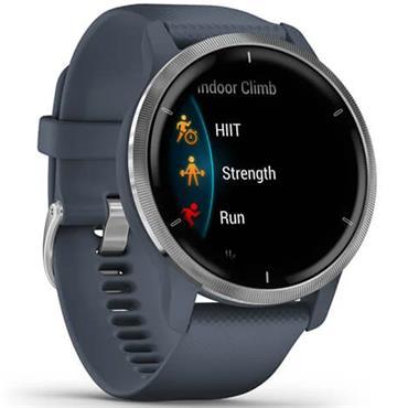 Garmin Venu 2 GPS Watch  Blue Granite Silver