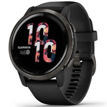 Garmin Venu 2 GPS Watch  Black Slate