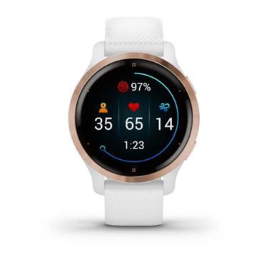 Garmin Venu 2S GPS Watch  Rose Gold White