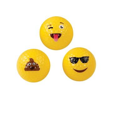 Masters Golf Emoji 3-Pack Golf Balls  Yellow