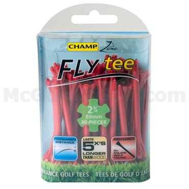 "Champ FlyTee 2 3/4"" Tees 30-Pack  Red"