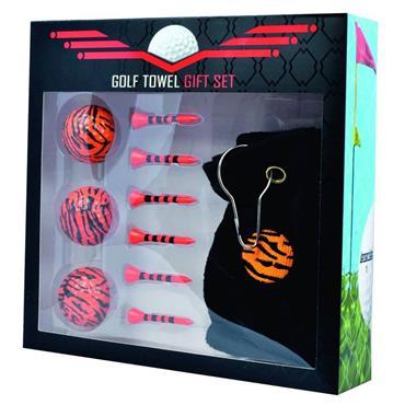 Longridge Tiger Towel Gift Set  Black - Orange