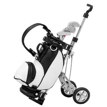 Longridge Desktop Golf Bag & Pen Set  Black White