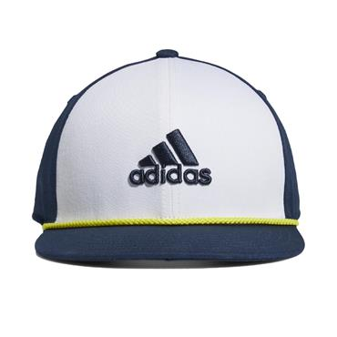 adidas Youth Flat Brim Hat  White/Crew Navy